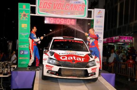 Contundente triunfo de Xevi Pons y MRF Tyres en el Rallye Isla de Los Volcanes