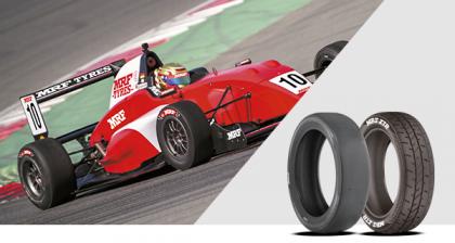 Imagen de presentación de los neumáticos de racing